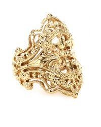 Iam By Ileana Makri | Metallic Chantilly Yellow Goldplated Ring | Lyst