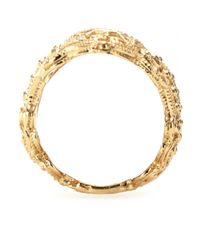 Iam By Ileana Makri Metallic Chantilly Yellow Goldplated Ring