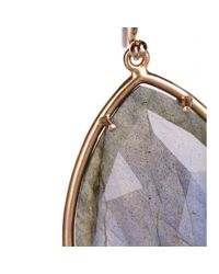Irene Neuwirth | Brown 18kt Rose Gold Earrings With Rose Cut Labradorite | Lyst