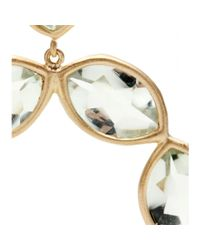 Jamie Wolf | 18kt Yellow Gold Linked Marquis Green Amethyst Earrings | Lyst