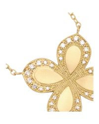 Jamie Wolf - 18kt Yellow Gold Flower Pendant Necklace With White Diamonds - Lyst
