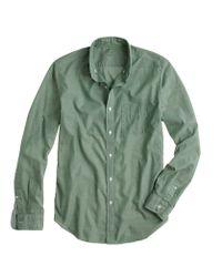J.Crew Green Lightweight Chambray Shirt for men