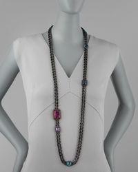 Lanvin Black Kristin Necklace
