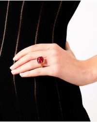 Marie-hélène De Taillac Purple Large Spinel and 18k Gold Ring