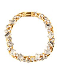 Miu Miu - White Crystal Bead Embellished Necklace - Lyst