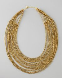 Nakamol | Metallic Layered Beaded Necklace | Lyst