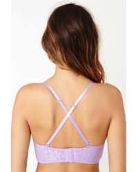 Nasty Gal - Purple Alessia Lace Bustier Lavender - Lyst