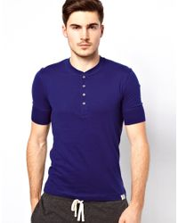 Paul by Paul Smith | Blue Short Sleeve Henley Tshirt for Men | Lyst