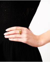 Ram - Metallic 22k Gold Ring With White Diamond - Lyst