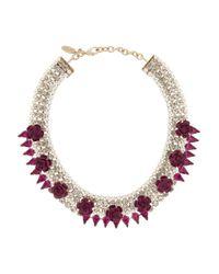 Roberto Cavalli Metallic Crystal-embellished Necklace