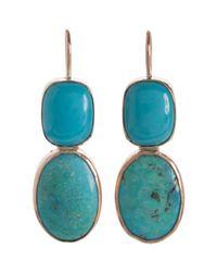 Sandra Dini - Blue Turquoise Earrings - Lyst