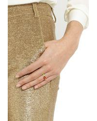 Solange Azagury-Partridge Green Ladybug Enameled 18karat Gold Ring