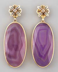 Stephen Dweck - Metallic Purple Agate Quartz Earrings - Lyst