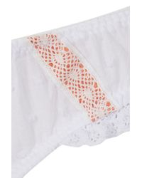TOPSHOP | White Maternity Lace And Mesh Mini Panties | Lyst