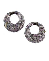 Arunashi | Multicolor Sapphire Tire Hoop Earrings | Lyst