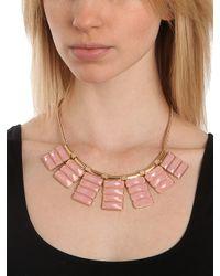 BaubleBar - Pink Rose Quartz Ray Bib - Lyst
