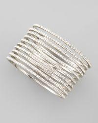 Chamak by Priya Kakkar - Metallic Set Of 10 Thin Crystal Bangles - Lyst