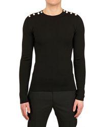 Dior Homme Black Wool Silk Knit Sweater for men