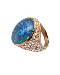 Irene Neuwirth - Blue One Of A Kind Lightening Ridge Black Opal Ring - Lyst