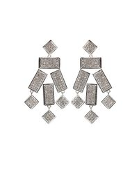 Kara Ross - Metallic Geo Gemstone Earrings - Lyst