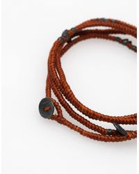 M. Cohen Brown 4 Layer Hand Knotted Wrap for men