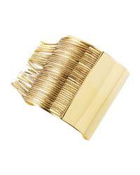 Michael Kors Metallic Fringe Cuff Bracelet