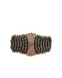 Miguel Ases - Green Metallic Bead Bat Bracelet - Lyst