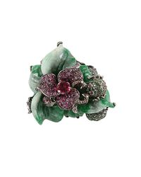 Wendy Yue - Green Flower Ring - Lyst