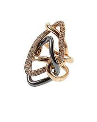 Antonini - Metallic Diamond Milano Rose Gold Ring - Lyst