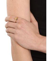 BaubleBar - Metallic Gold Diamond Teardrop Ring - Lyst