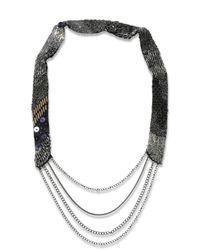 DIESEL Metallic Stel Necklace