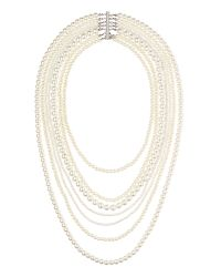 Jaeger | White Long Multi Strand Pearl Necklace | Lyst