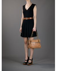 Lanvin - Brown Chain Shoulder Bag - Lyst