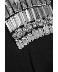 McQ Black Embellished Stretch jersey Dress