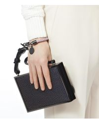 Reiss - Pink Frith Leather Weave Bracelet - Lyst