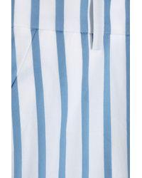 The Row White Seedun Striped Cotton Cropped Pants