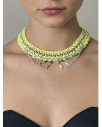 Venessa Arizaga | Yellow Sophia Collar Necklace | Lyst