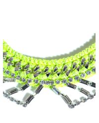 Venessa Arizaga - Yellow Sophia Collar Necklace - Lyst