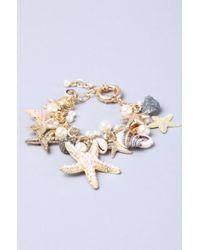 AKIRA | White Seashore Bracelet | Lyst