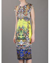 Roberto Cavalli Yellow Printed Dress