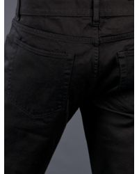 Acne Studios Black Vega Paper Jeans for men