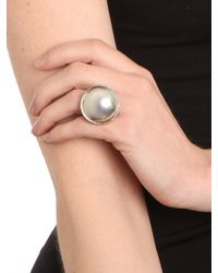 BaubleBar | Metallic Gold Button Ring | Lyst