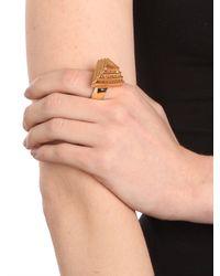 BaubleBar - Metallic Gold Pyramid Ring - Lyst