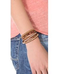 Chan Luu | Brown Leather Wrap Bracelet | Lyst