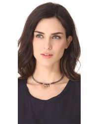 DANNIJO - Metallic Elsie Necklace - Lyst