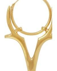 Dominic Jones - Metallic Pegasus Goldplated Earrings - Lyst