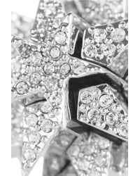 Eddie Borgo - Metallic Pentagram Silverplated Pavé Crystal Ring - Lyst