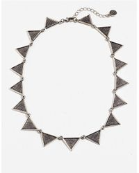 House of Harlow 1960 - Metallic Cross Hatched Triangle Collar Necklace - Lyst