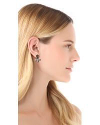 Pamela Love Metallic Rose Earrings