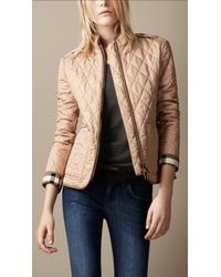 Burberry Brit - Natural Diamond Quilted Jacket - Lyst
